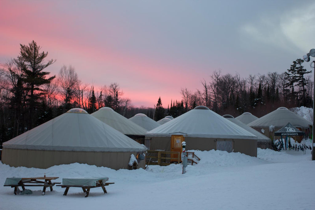 Ski Yurts - Shaggy's Family Vacation at Mount Bohemia