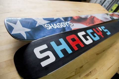 Skis Made in USA - Limited Edition USA Skis - Red White Blue Skis