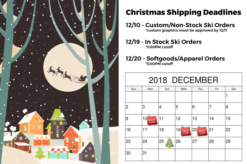 Christmas Shipping Cutoff Dates