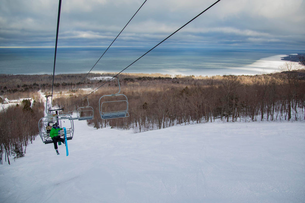 Overlooking Lake Superior at The Porkies Ski Area