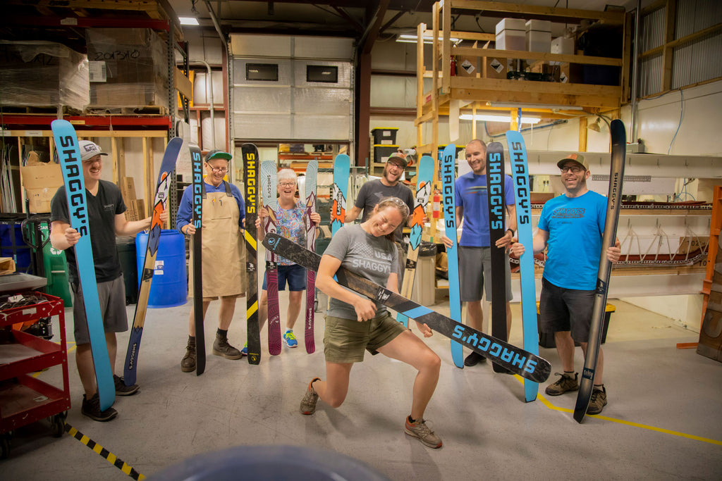 Group Photo in the Ski Factory