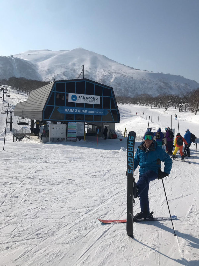 Hanazono Ski Area - Getting ready to load the chairlift
