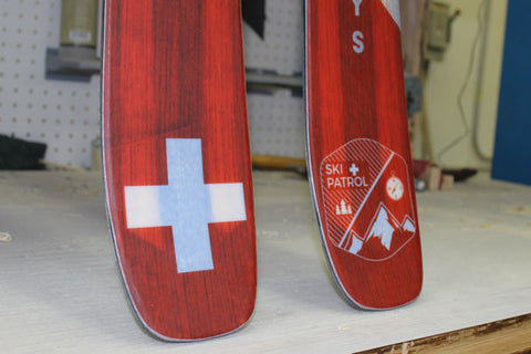 Ski Patrol Ski Cross + Badge