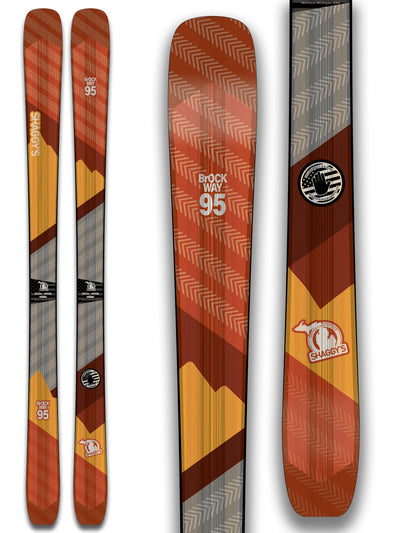 2019 Brockway 95 - All Mountain Skis for groomers, crud, powder, and ice