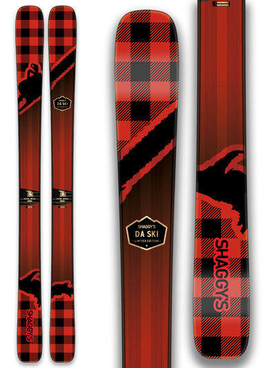 Plaid Skis - Red/Black Plaid Skis - Yooper Skis