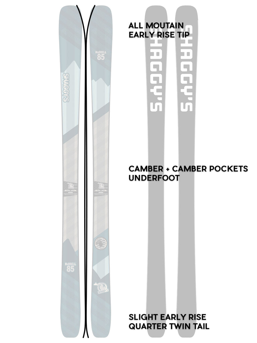 2019 Hubbell 85 - All Mountain Frontside Skis - Carving Skis