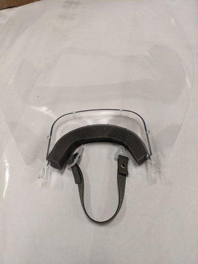 Back view of Face shield with anti fog coating