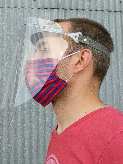 Reusable Face Shield with Replaceable Anti-Fog 4 mil Lens