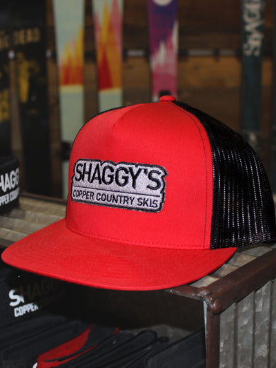 Shaggy's Skis Red/Black Snapback Hat