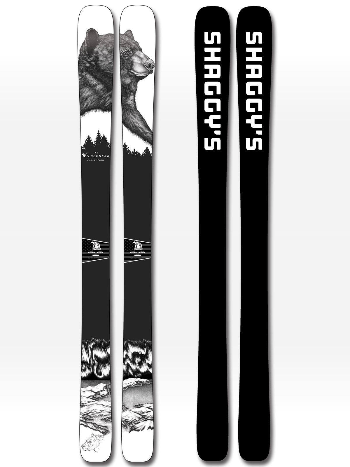 Limited Edition Wilderness Collection Skis