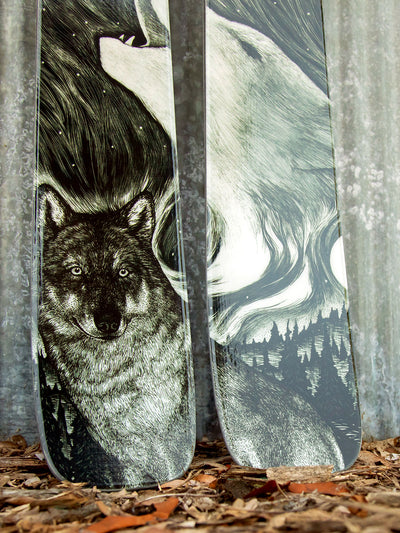 Limited Edition Wilderness Collection Skis - Wolf