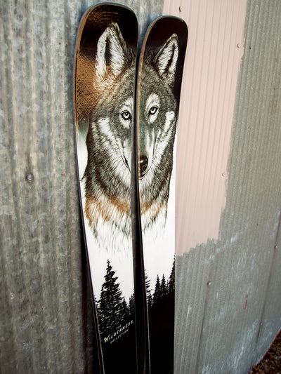 Limited Edition Wilderness Skis - Wolf Ski Graphic