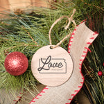 Love From Kansas Christmas Ornament