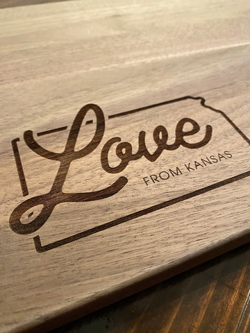 """Love From Kansas"" Coasters"