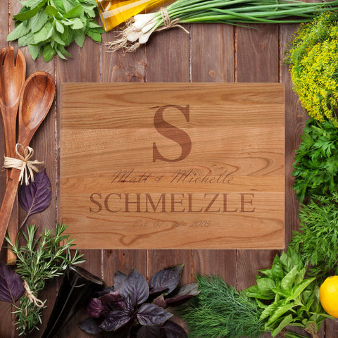 Big Letter Cutting Board