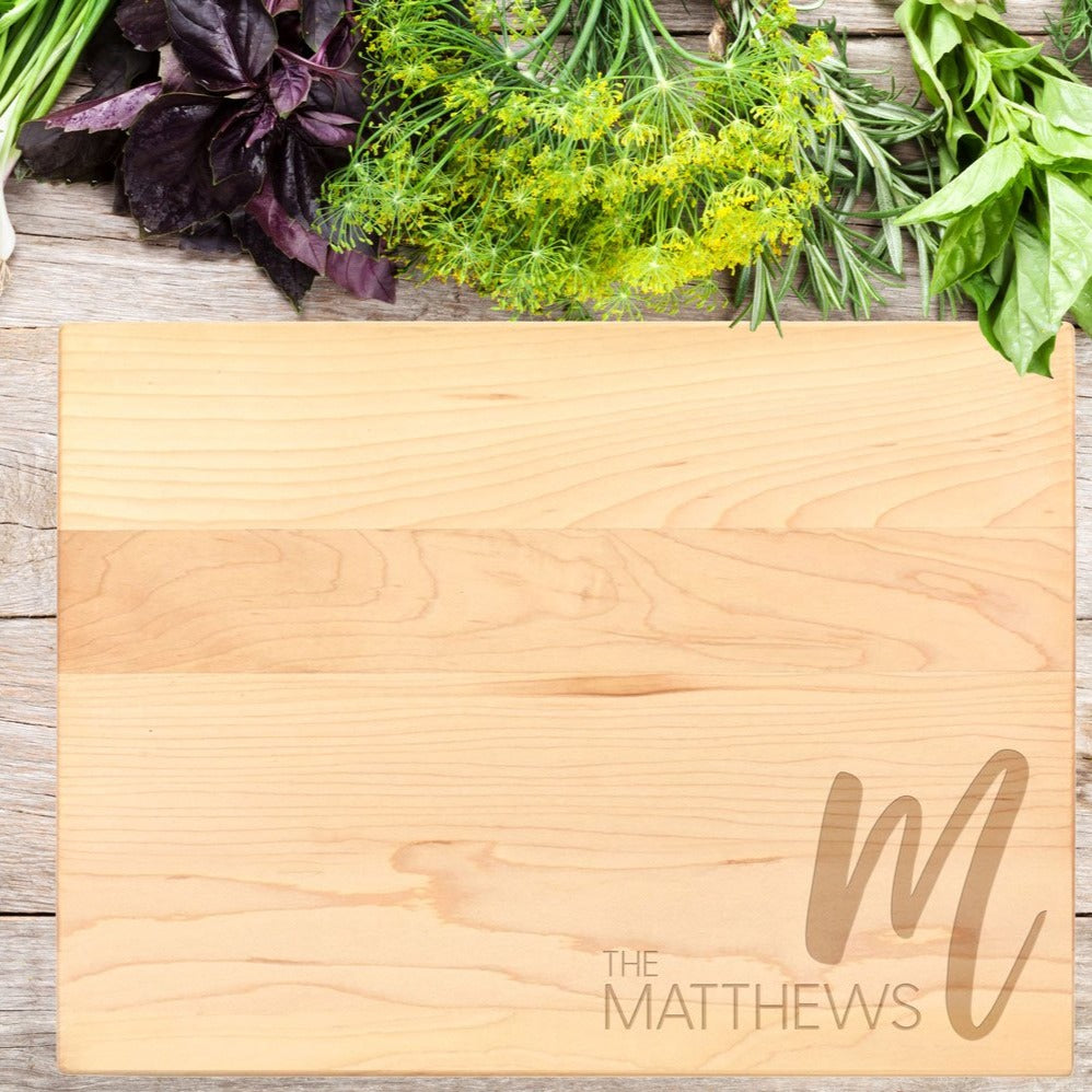 Last Name Cutting Board #2