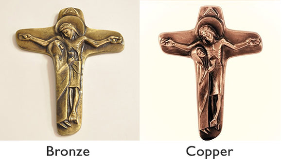 Wall Unity/Nuptial Crucifix - Bronze, Copper (imported)
