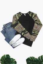Load image into Gallery viewer, Camouflage and Leopard Long Sleeve Top