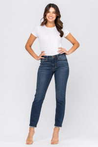 Judy Blue Hands & Cuffed Boyfriend Jeans