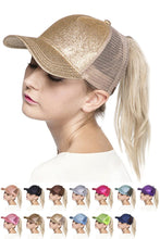 Load image into Gallery viewer, CC GLITTER PONYTAIL BASEBALL CAP