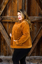 Load image into Gallery viewer, Camel Corduroy Jacket Plus Size