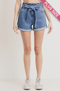 ELASTIC BAND TWO-BUTTON CUFFED SHORTS