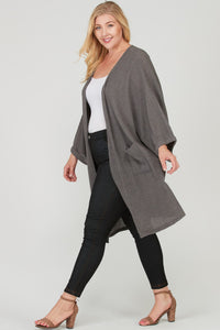 Waffle Knit Loose Fit Cardigan