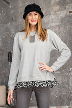 Load image into Gallery viewer, Long Sleeve Animal Print Ruffled Pullover