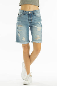 KANCAN KARLY HIGH RISE 90'S BOYT BERMUDA SHORTS