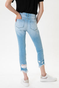 KanCan Cropped 9218- Light Wash