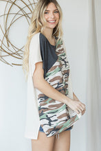 Load image into Gallery viewer, Cute Basic Army Printed Top