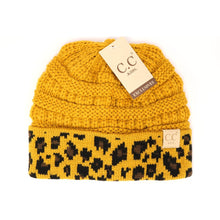 Load image into Gallery viewer, KIDS Matching Cuff Leopard Print CC Beanie