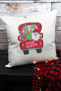 MERRY CHRISTMAS PALS TRUCK DECORATIVE PILLOW COVER