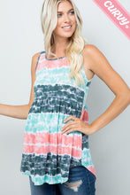 Load image into Gallery viewer, TIE DYE BABYDOLL JERSEY TOP
