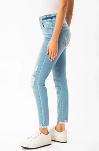 KANCAN GEMMA HIGH RISE DOUBLE WB DETAIL ANKLE SKINNY