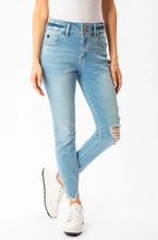 Load image into Gallery viewer, KANCAN GEMMA HIGH RISE DOUBLE WB DETAIL ANKLE SKINNY
