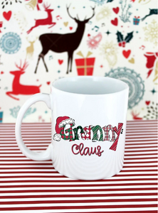 Granny Claus White Mug- 11 oz