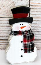 Load image into Gallery viewer, Tabletop Block Snowmans