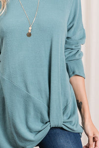 Side Knot Long Sleeve Top