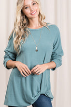 Load image into Gallery viewer, Side Knot Long Sleeve Top