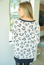 Load image into Gallery viewer, Long Sleeve Cheetah Print Knit Top