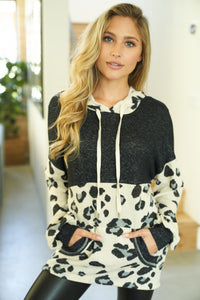 Cheetah Print Knit Sweater