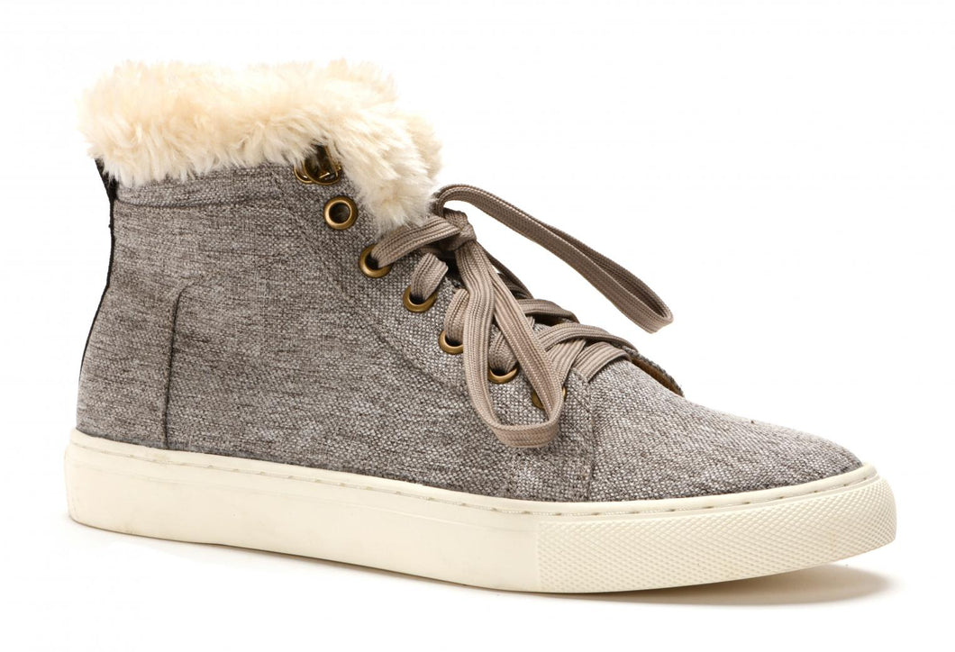 Templin Fuzzy Grey Shoe