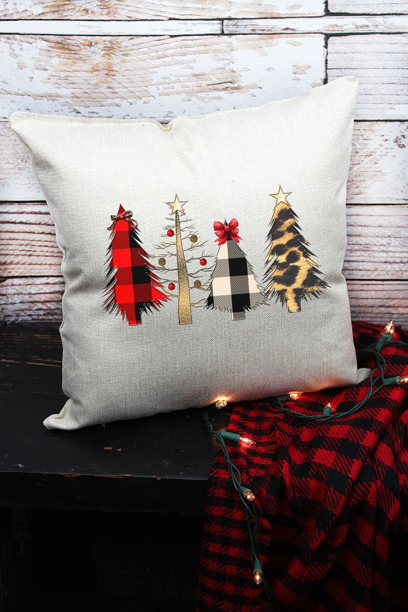 WILD CHRISTMAS TREES DECORATIVE PILLOW COVER