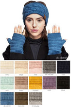 Load image into Gallery viewer, FINGERLESS SHERPA LINED CC GLOVES
