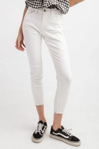 CUT EDGE BOTTOM STRETCH TWILL JEGGINGS