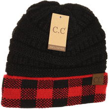 Load image into Gallery viewer, Buffalo Check CC Beanie