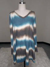 Load image into Gallery viewer, Tie Dye Long Sleeve V-Neck Dress