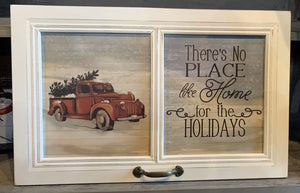 15 X 23.5 'HOME FOR THE HOLIDAYS' CAR WINDOW WALL DECOR