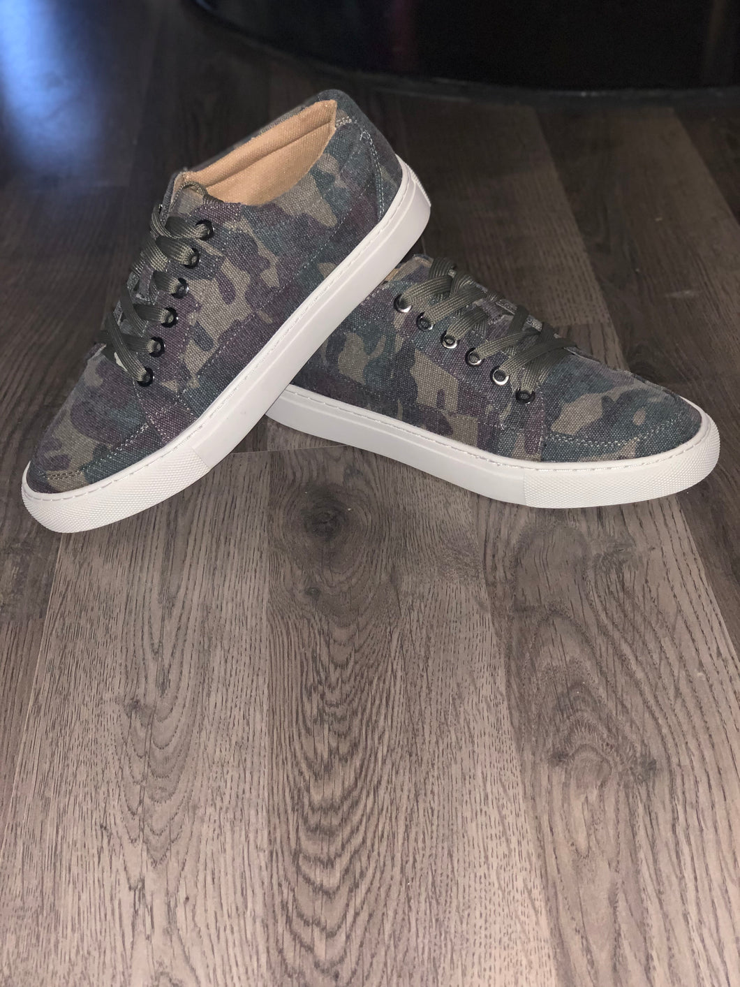 Puzzle Camo Tie Shoes